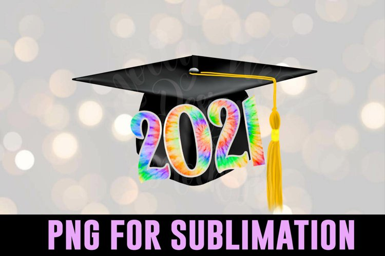 Grad Tie Dye sublimation - Graduation PNG - Downloadable