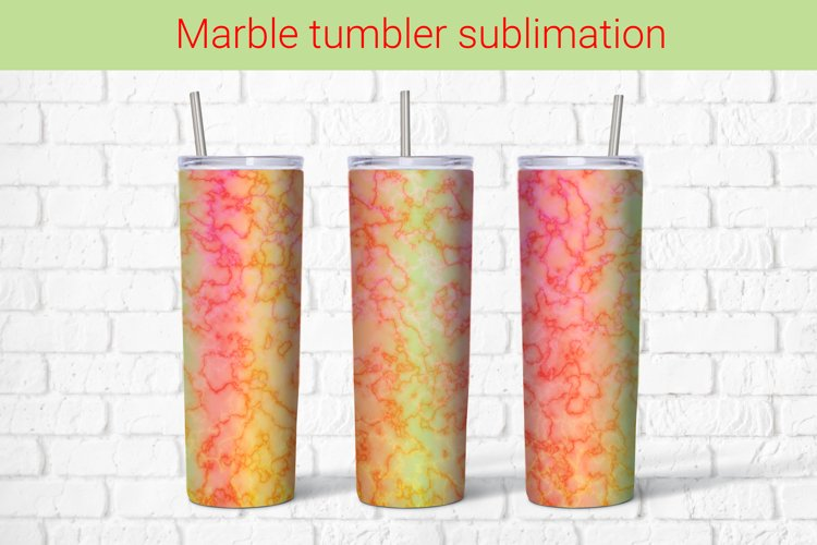 Abstract gradient marble sublimation tumbler