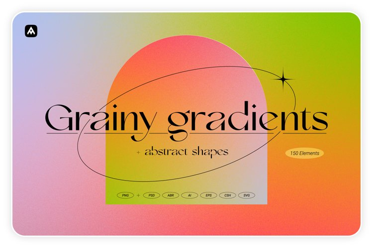 Grainy gradients - backgrounds & abstract shapes collection example image 1