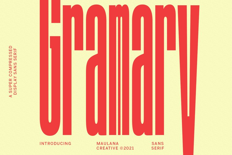 Gramary Compressed Sans Font example image 1
