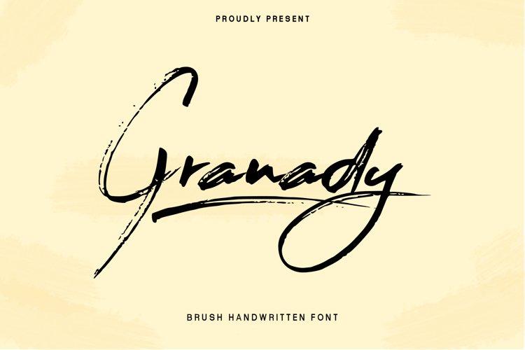 Granady Handwriting Brush Font example image 1