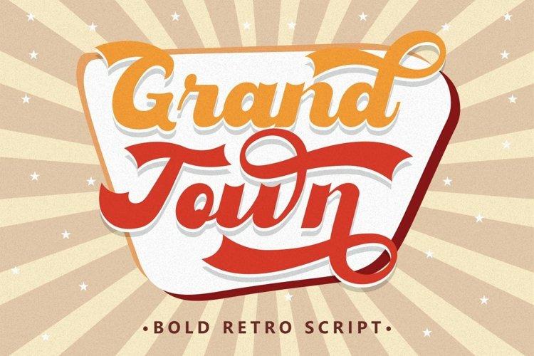 Grandtown - Bold Retro Script example image 1