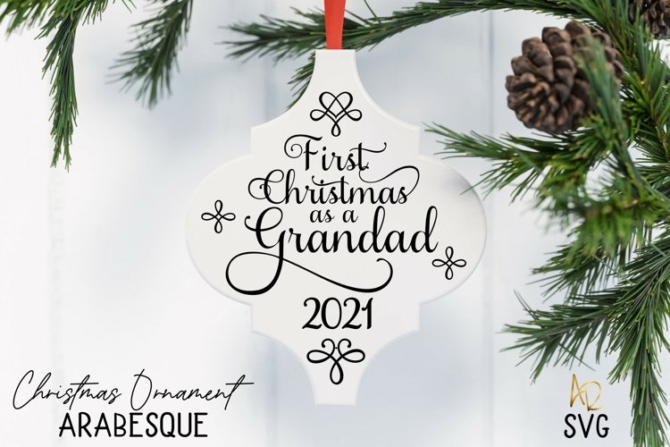 Arabesque Tile First Christmas As A Grandad | Great-Grandad example image 1