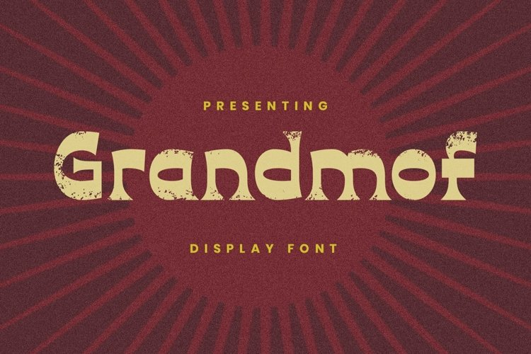 Web Font Grandmof example image 1