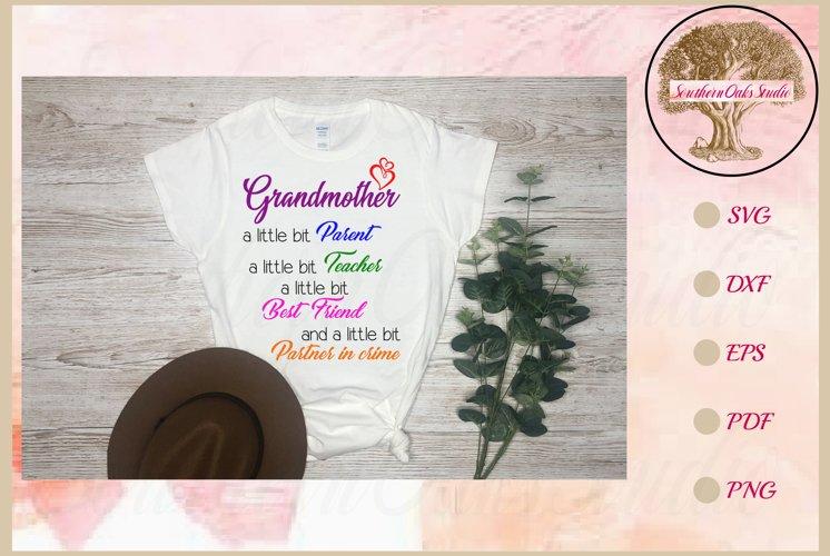 Funny Grandmother Svg | Partner In Crime Grandmother Gift