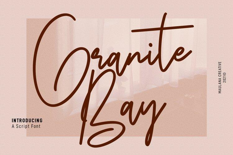 Granite Bay Script Font example image 1