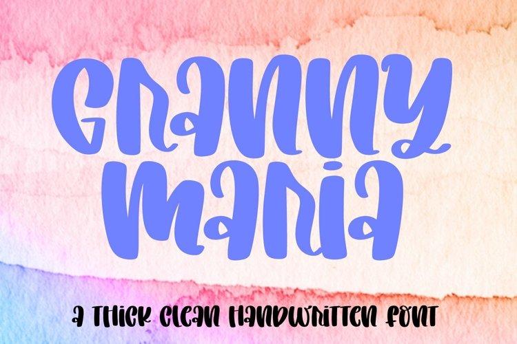 Web Font Granny Maria - A Chunky Clean Marker Font