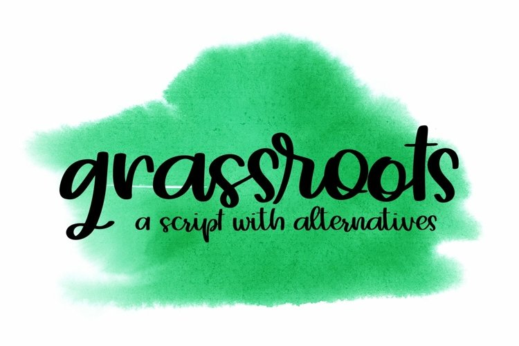 Web Font Grassroots - A Hand Lettered Script example image 1