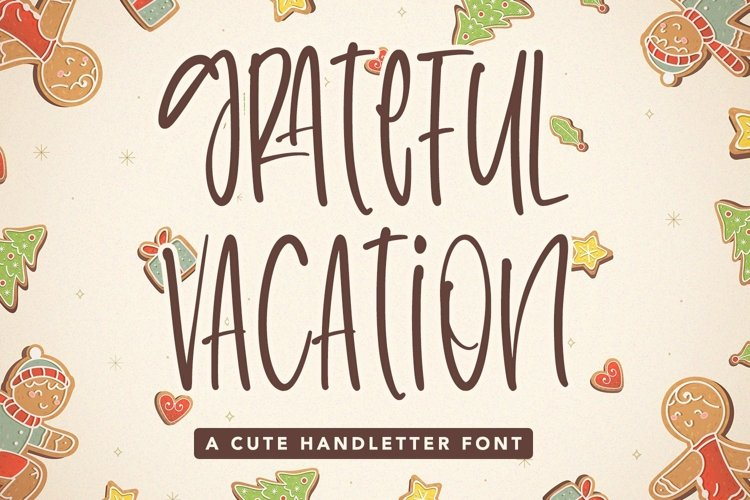Web Font Grateful Vacation - A Cute Handletter Font example image 1