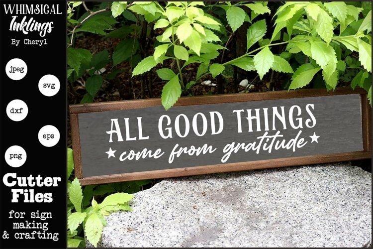 Gratitude SVG example image 1
