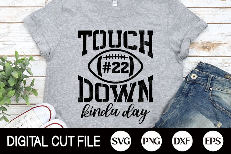 Football SVG, Touchdown SVG, Football Fan, Football Player example image 1