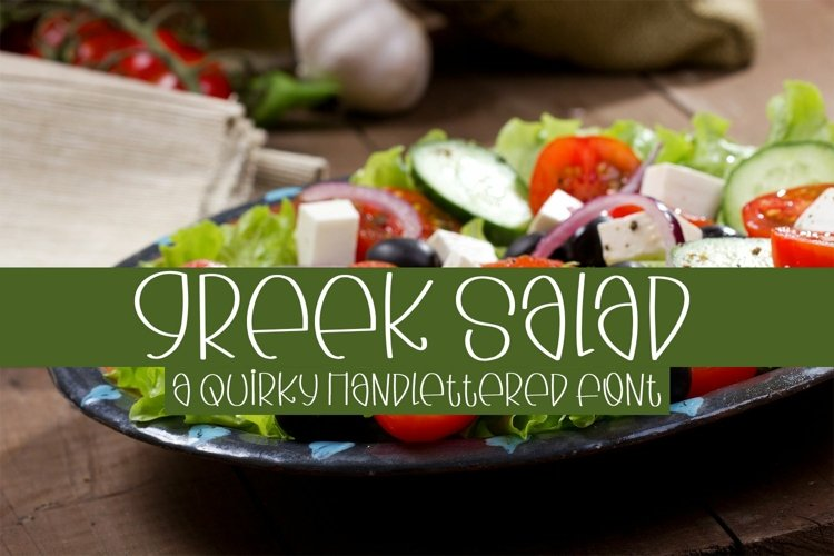 Web Font Greek Salad - A Quirky Handlettered Font example image 1