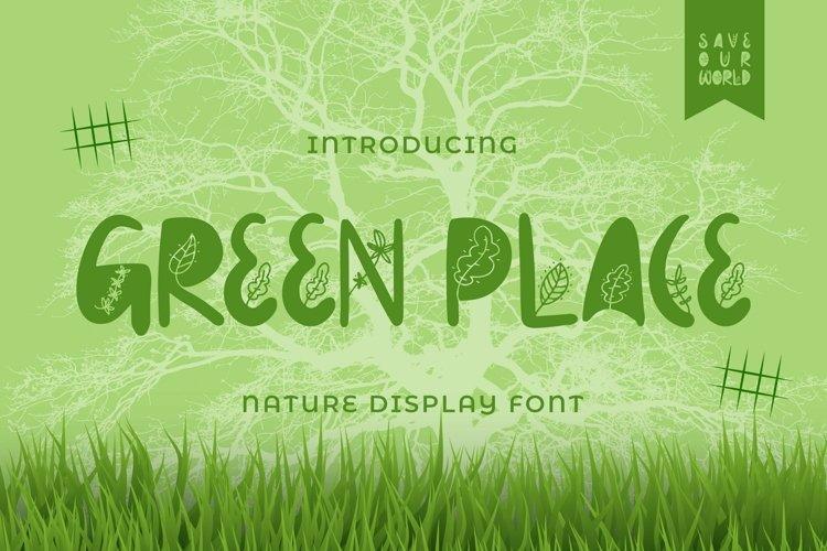 Web Font Greenplace Font example image 1
