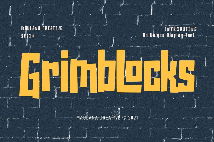 Grimblocks Display Font example image 1