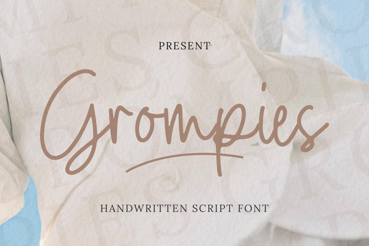 Web Font Grompies Font example image 1