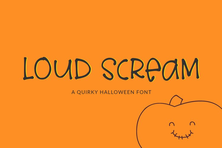 Loud Scream - a quirky halloween font example image 1