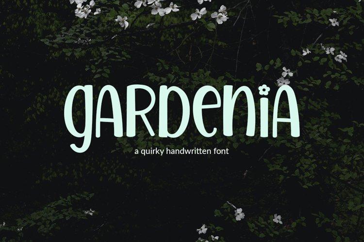 Gardenia - a quirky handwritten font example image 1