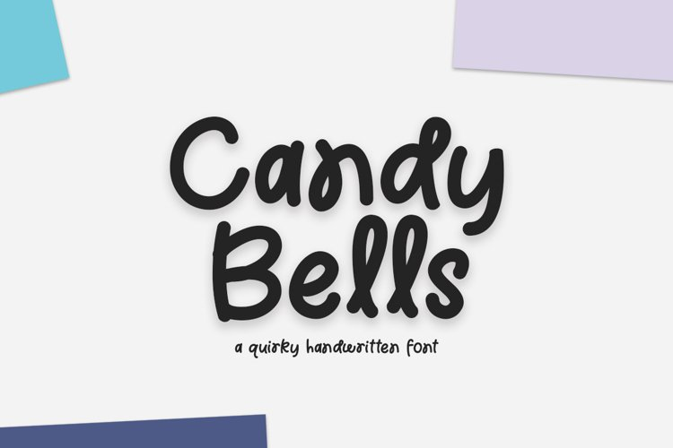 Candy Bells - a quirky handwritten font example image 1