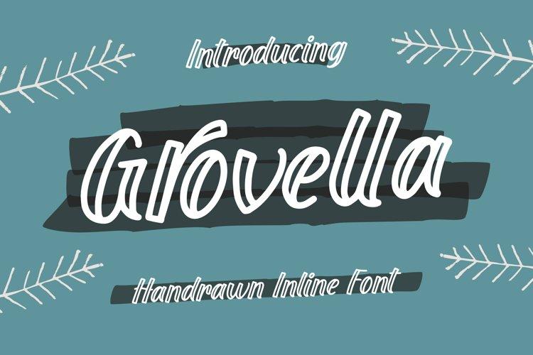Grovella - Handrawn Inline Font example image 1