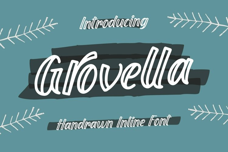 Web Font Grovella - Handrawn Inline Font example image 1