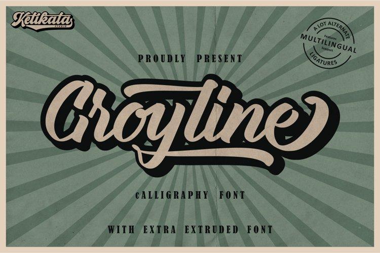 Groyline Calligraphy extruded font