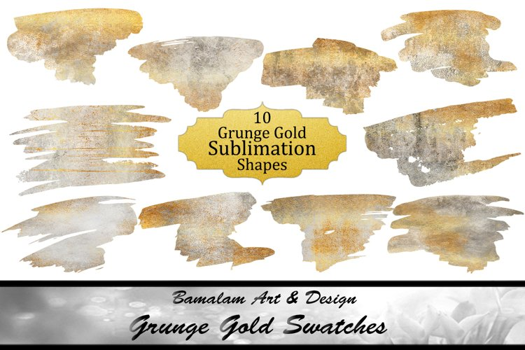 Grunge Gold Sublimation Swatches