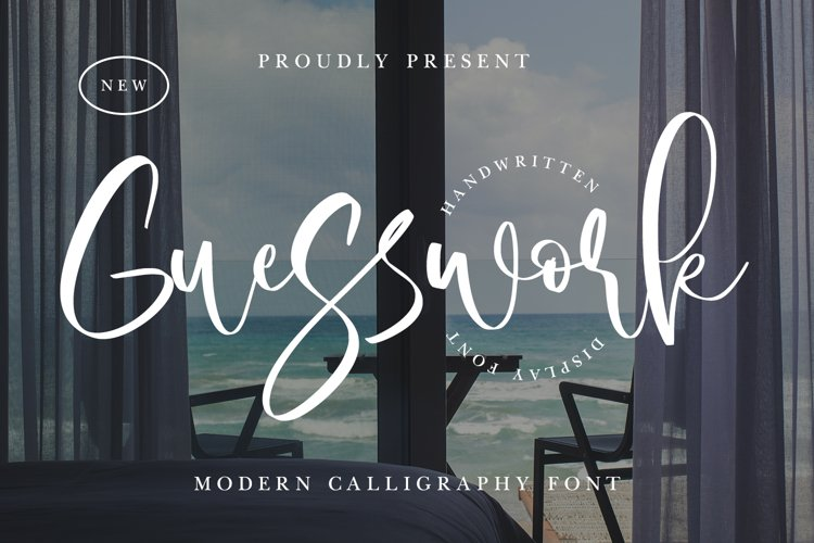Guesswork - Modern Calligraphy Font example image 1