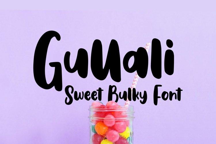 Web Font Gullali - Sweet Bulky Font example image 1