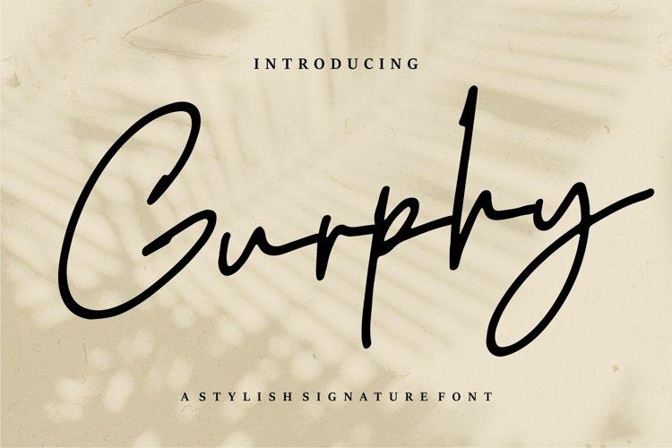 Gurphy - A Stylish Signature Font example image 1