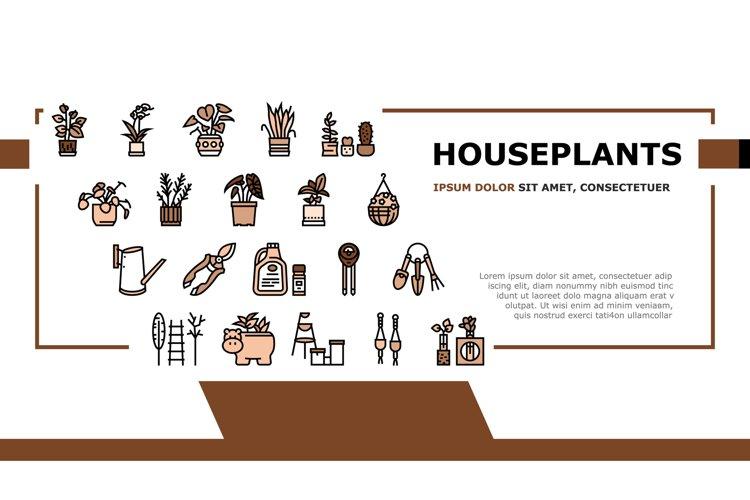 Houseplant Store Sale Landing Header Vector example image 1