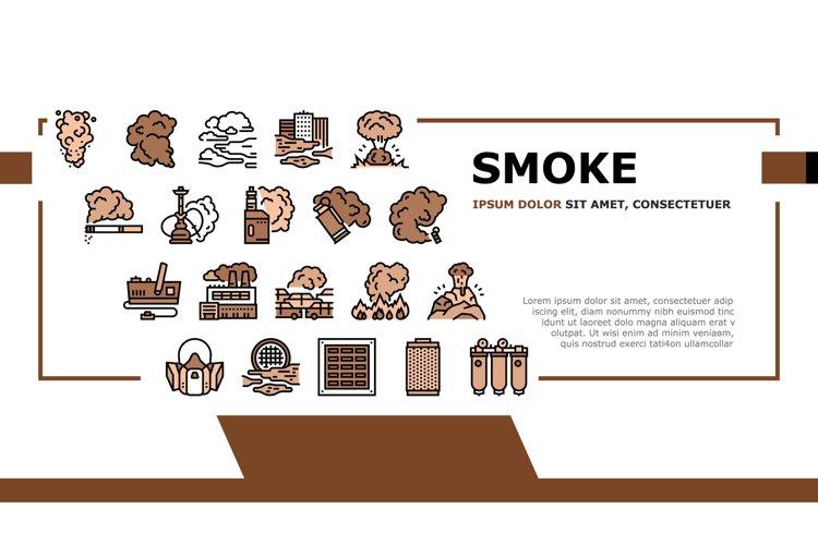 Smoke And Fog Steam Landing Header Vector example image 1