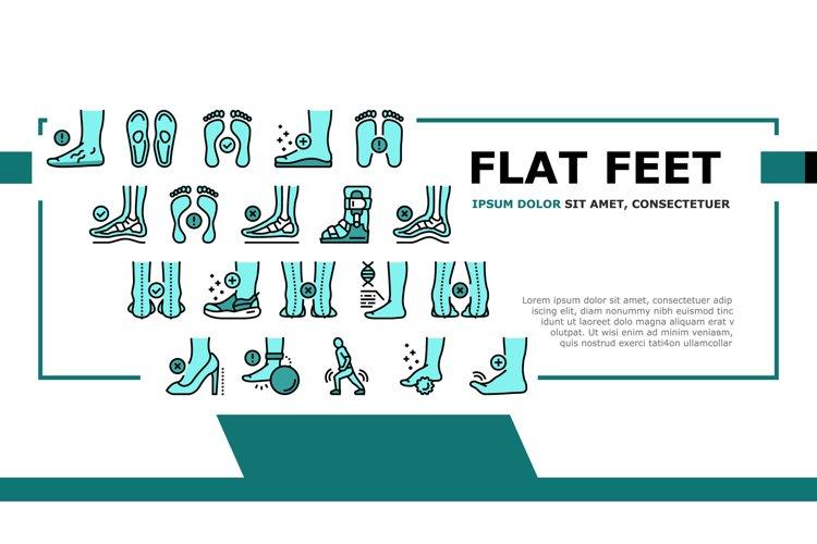 Flat Feet Disease Landing Header Vector example image 1