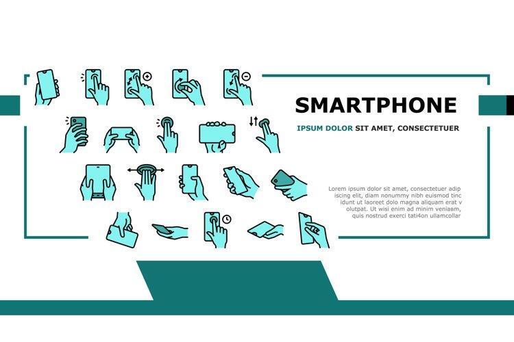 Smartphone Gesture Landing Header Vector example image 1