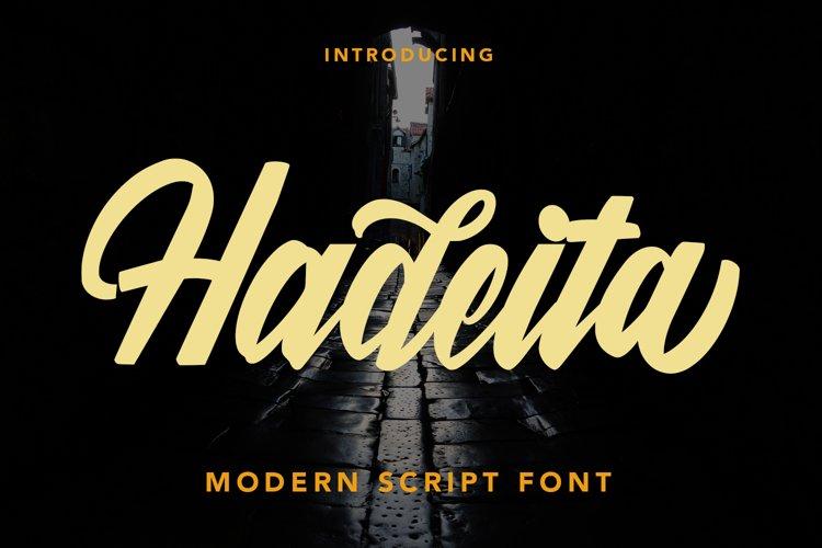 Hadeita - Modern Script Font example image 1