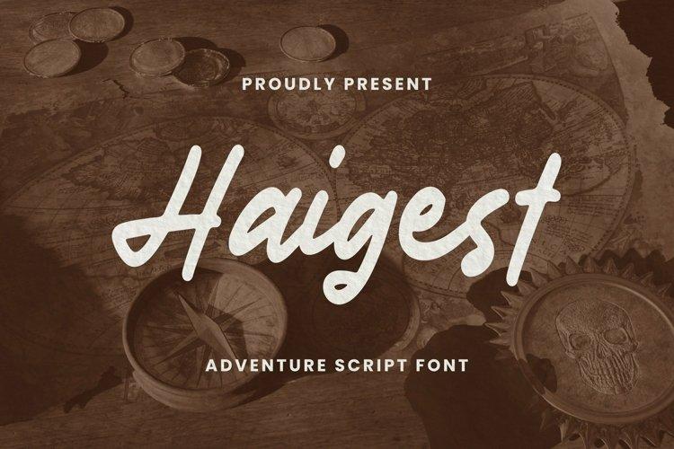 Web Font Haigest Font example image 1