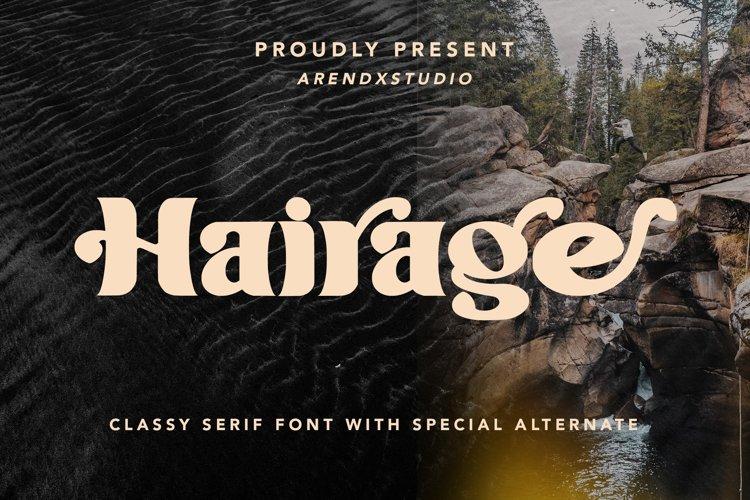 Hairage - Classy Serif Font example image 1