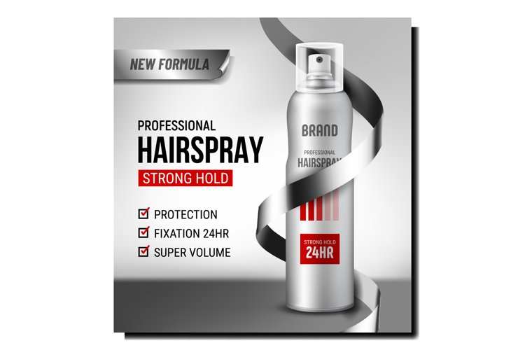 Professional Hairspray Promotional Banner Vector