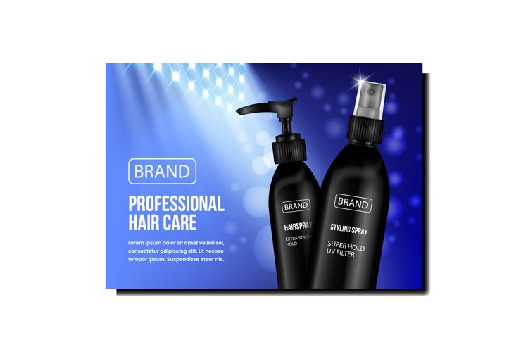 Professional Hair Care Promotional Poster Vector
