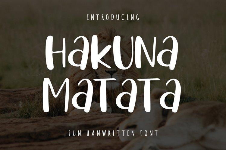 Hakuna Matata example image 1