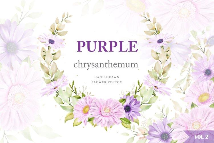 watercolor chrysanthemum wedding card bundle