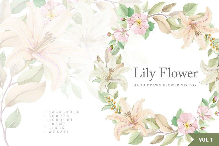 lily hand drawn wedding card bundle