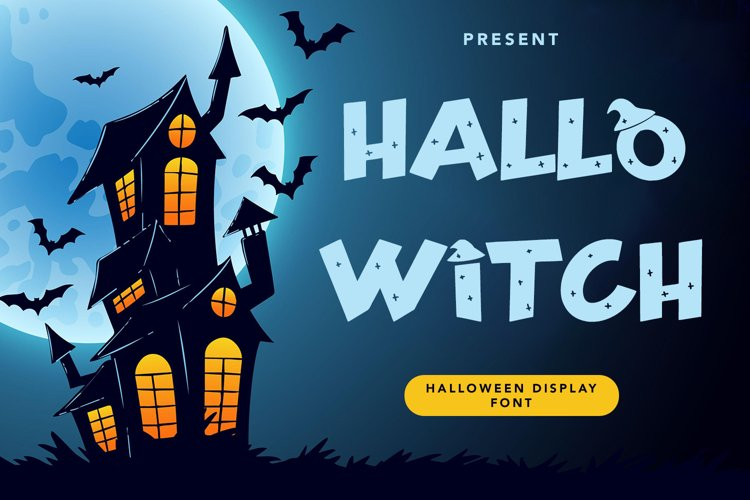 Hallo Witch - Halloween Display Font example image 1