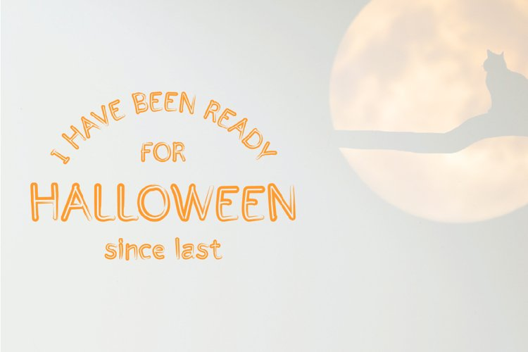 Halloween - cute display font example image 1