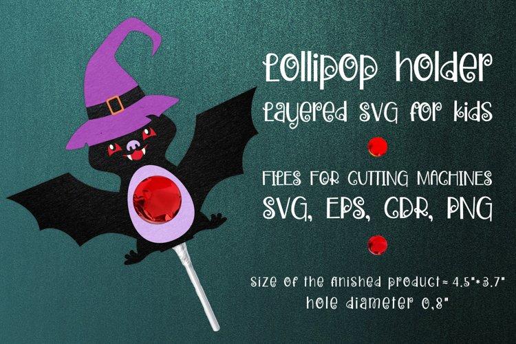 Halloween Bat Lollipop Holder Template SVG - Free Design of The Week Font