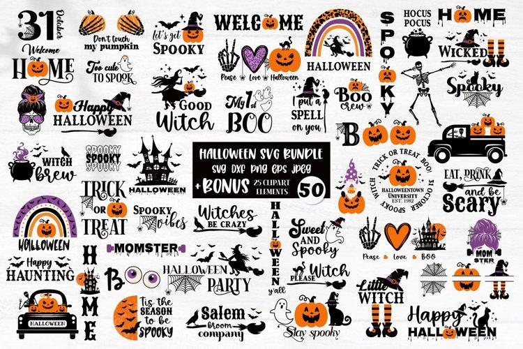 Halloween SVG Bundle, gnome, pumpkin, Halloween quotes example image 1