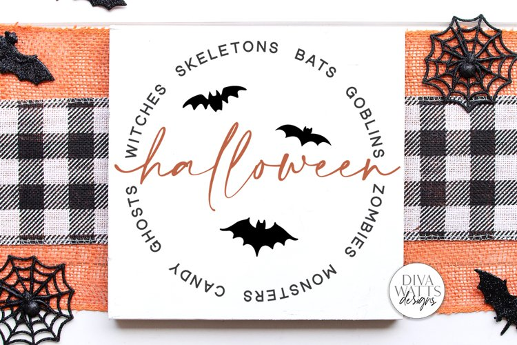 Halloween Word Art SVG | Halloween Sign SVG | DXF and More! example image 1