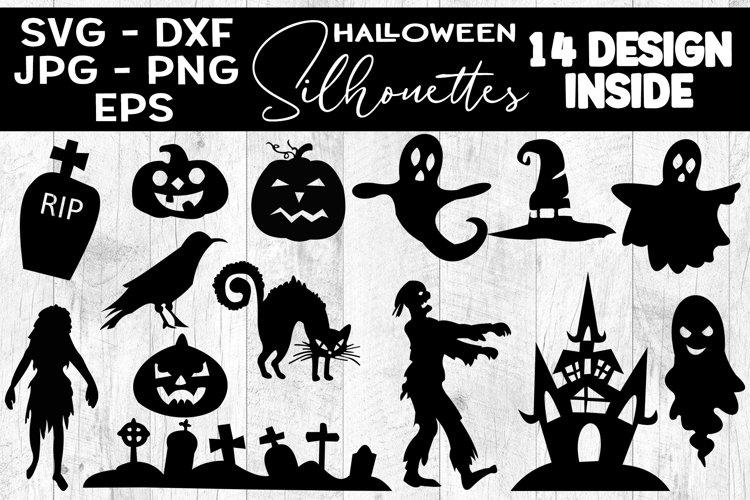 Halloween Silhouettes SVG Halloween Cliparts