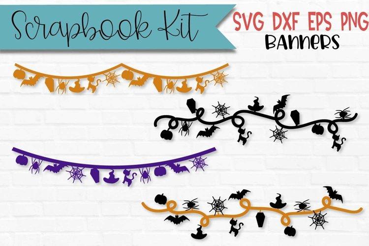Halloween Scrapbook Banners Scrapbooking Kit