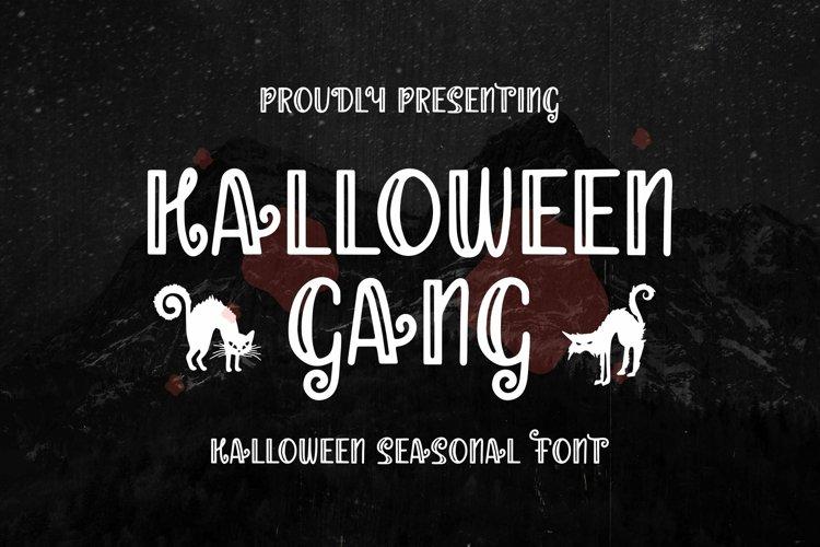 Web Font Halloween Gang - Halloween Font example image 1