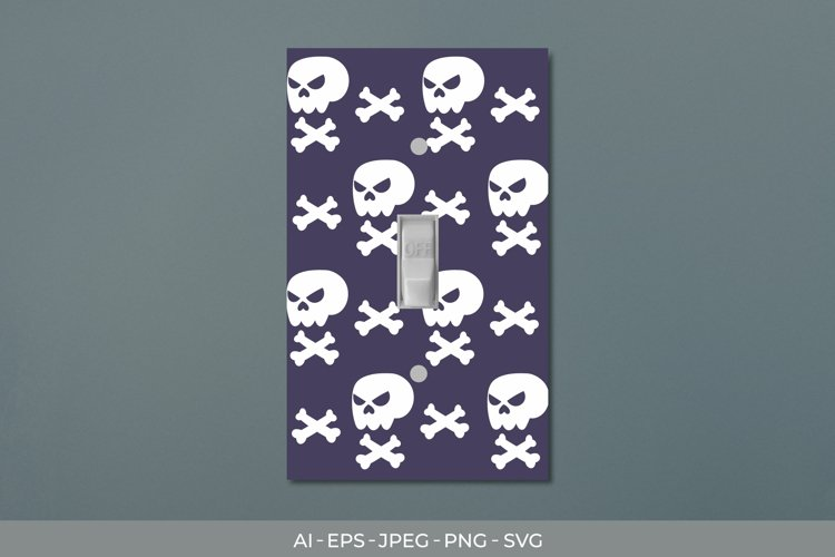 Skull - Halloween Light Switch Cover Sticker example image 1